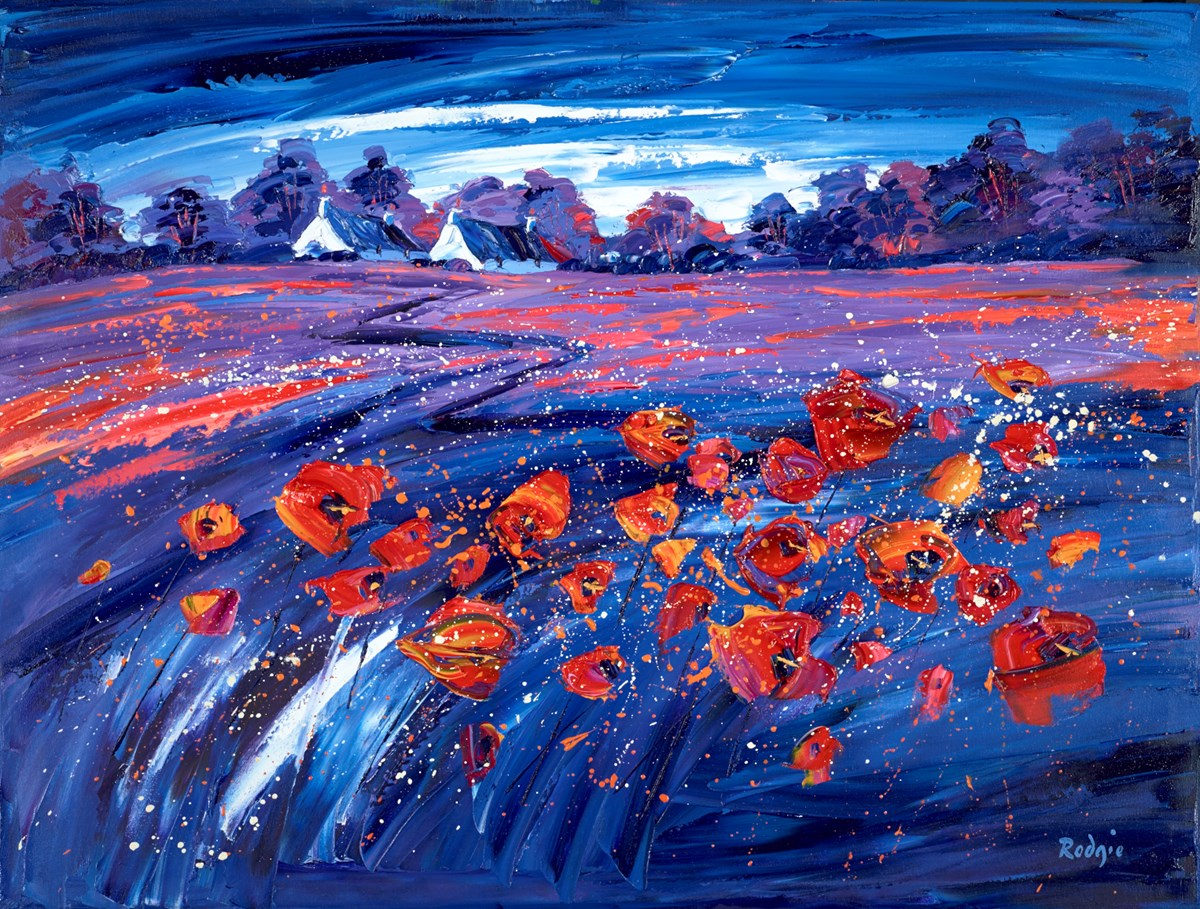 Summer Poppies II by lynn rodgie -  sized 40x30 inches. Available from Whitewall Galleries